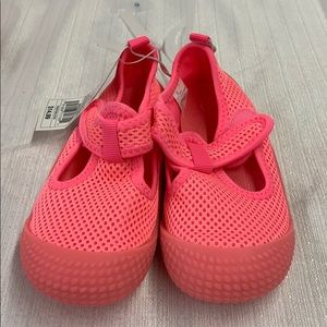 Cat & Jack Neon Pink Breathable Velcro Water Shoes